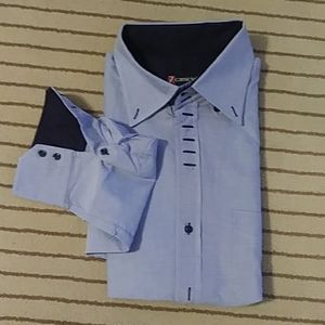 7 Camicie Button Down Shirt Blue